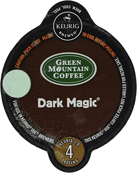 32 Count Green Mountain Dark Magic Vue Cup Coffee For Keurig Vue Brewers