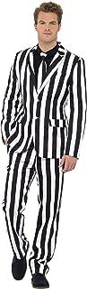 Bah Humbug Beetlejuice Stripe Suit Adult Costume