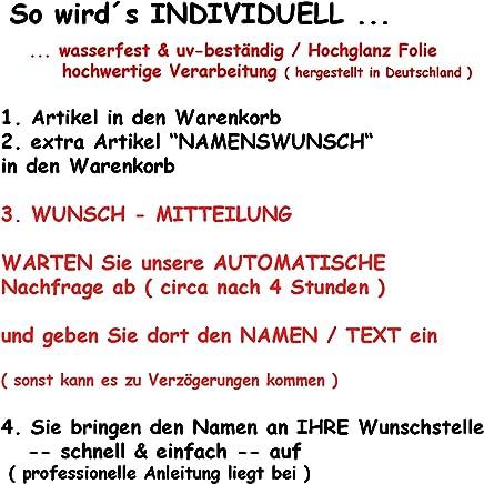 alles-meine.de GmbH Nachkauf - für Namenswunsch