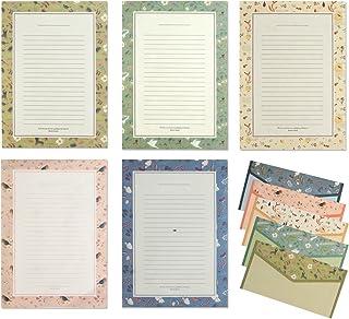 طقم حروف ورقية IMagicoo 48 قرطاسية جميلة مع 24 ملصق ختم ظرف / ظرف (3)