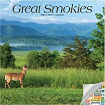 Great Smokies Calendar 2020 Set - Deluxe 2020 Great Smoky Mountains Wall Calendar with Over 100 Calendar Stickers (National Parks Gifts, Office Supplies)