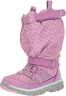 Stride Rite Baby Boy's and Girl's Machine Washable Snow Boot, purple, 6.5 W US Toddler