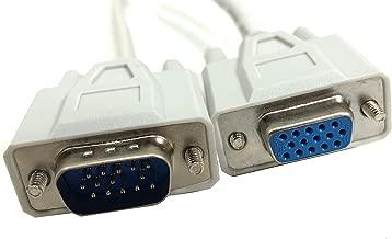 Micro Connectors, Inc. 10 feet SVGA Monitor Extension 1024 x768 Cable HD15 M/F (M05-110A)