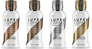 Kitu Super Coffee, SugarFree Keto Coffee (0g Sugar, 10g Protein, 80 Calories) [Variety Pack] 12 Fl Oz, 12 Pack | Iced Coffee, Protein Coffee, Coffee Drinks - From The Super Coffee Family