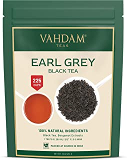 VAHDAM, Earl Grey Tea Leaves (200+ Cups) CITRUSY & DELICIOUS - Brew Iced Tea or Hot Tea, Black Tea blended with 100% Natur...