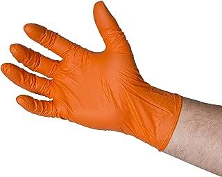 color naranja edulab bng6816/guantes de nitrilo, sin polvo, Micro con textura, talla XXL Pack de 100