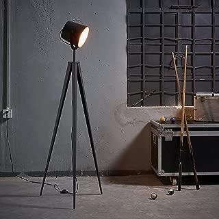 Versanora VN-L00021 Industrial Tripod Floor Lamps, Black/Rose Gold