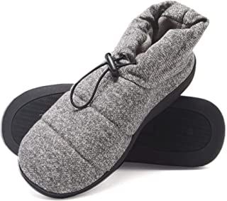 Hanes Men's Slipper Boot House Shoes with Indoor Outdoor Memory Foam Odor Protection Fresh IQ Sole