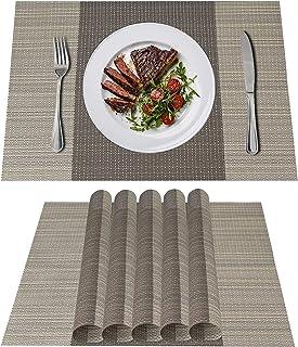 d.Stil Lot de 6 Sets de Tables PVC Lavables Antidérapant Résistant à l'usure à la Chaleur, Facile à Nettoyer et Stocker, 4...