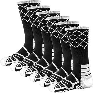 Basketball Net Socks Team Bundle, 6-Pack – Elite Basketball Socks, Cooldry/Dry Fit Light Compression & Performance Crew Basketball Sock – Adult/Kids Team Athletic Socks