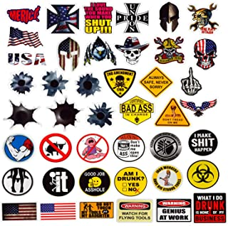 Hard Hat Stickers 50 Pack, BOENFU Union American Patriotic Vinyl Decals for Tool Box Helmet Hardhat Welding Construction Molon Labe Military Ironworker Lineman Oilfield Electrician Pipeliner Ibew
