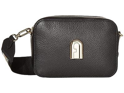 Furla Sleek Mini Camera Case (Nero) Handbags