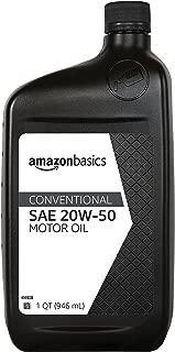 AmazonBasics Conventional Motor Oil - 20W-50 - 1 Quart - 6 Pack