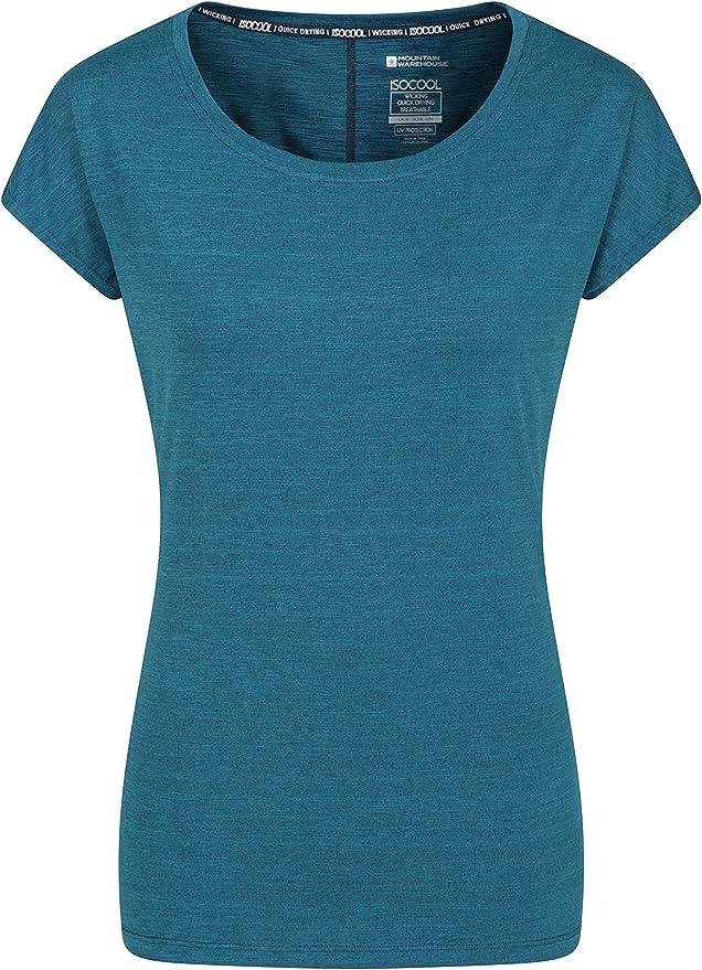 Mountain Warehouse Top IsoCool Dynamic para Mujer Secado r/ápido Camiseta Ligera para Viajar Correr Camiseta c/ómoda para Mujer Camiseta Transpirable