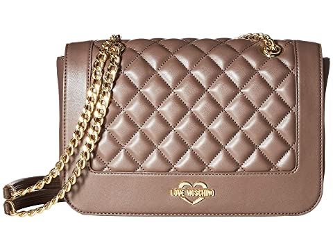 LOVE Moschino Super Quilted Shoulder Bag Chain Strap