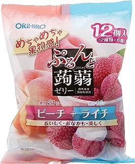 Orihiro Purun To Konnyaku Jelly, Peach And Lychee, 240 g