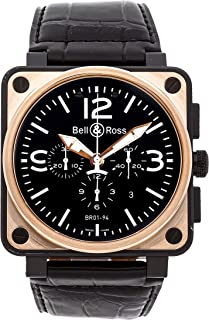 Bell & Ross BR01-94 Mechanical (Automatic) Black Dial Mens Watch BR01-94-OFFICER (Certified Pre-Owned)