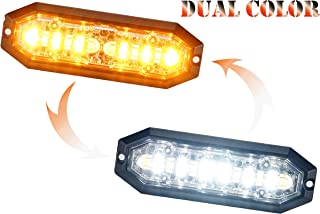 Unicorn Lighting UT01 Surface Mount Warning Emergency Strobe Grille Light Head [SAE class 1] [Dual Color] [IP68] for Police and Tow Truck Construction Vehicle Amber White