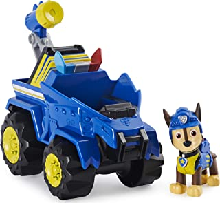 PAW Patrol Dino Rescue Chase's Deluxe Rev Up Vehicle with Mystery Dinosaur Figure
