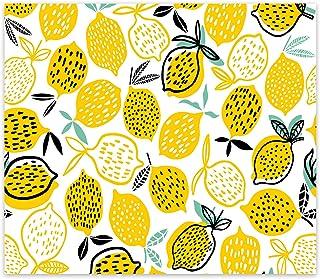 Decorita 10011509223 Sarı Limonlar Cam Ocak Arkası Koruyucusu, 40cm x 60cm