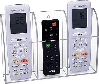 HBF Acrylique Télécommande Téléphone Portable Organisateur Rangement Télécommande à 3 Compartiments