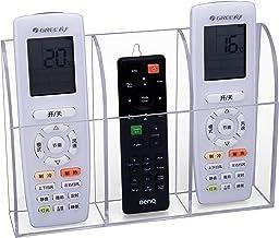 HBF Fernbedienung Halter Organizer, TV Klimaanlage Wandhalterung oder Tischhalter Aufbewahrungs Kasten aus transparentem Acryl für 3 Fernbedienungen