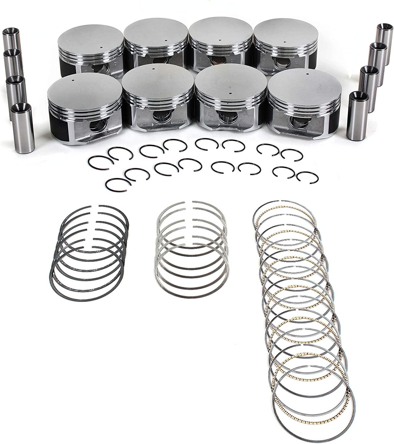 CNS Brand New Engine Max 61% OFF PISTONS Max 60% OFF W WITH Set 99-07 WORKS RINGS CHRYSL