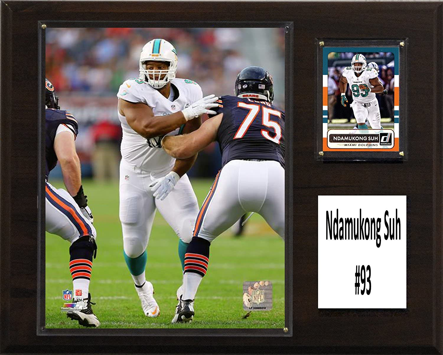 NFL Miami Dolphins Ndamukong Suh Player Plaque, Brown, 12  x 15
