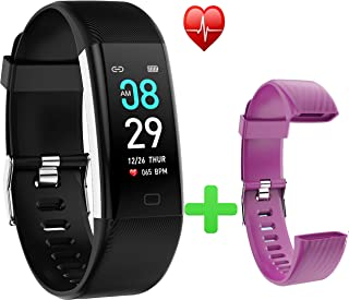 F07Max Sports Smart Bracelet Fitness Tracker HR, Activity Trackers Health Exercise Watch with Heart Rate and Sleep Monitor, Smart Band Calorie Counter, Step Counter, Pedometer Walking for Men & Women