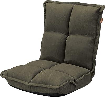 東谷(Azumaya-kk) 座椅子 グリーン 幅38×奥行43-52×高さ47-23cm カックンリクライナー RKC-173GR