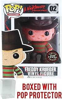 Funko Pop! Movies: A Nightmare on Elm Street - Freddy Krueger [Glow in the Dark Chase] Vinyl Figure (Bundled with Pop Box Protector Case)