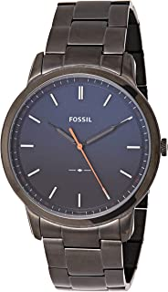Fossil Men's 'The Minimalist 3H' Quartz Stainless Steel Casual Watch, (Fs5377), Grey Band, Analog Display