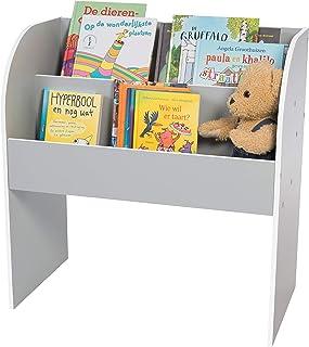 Meuble de rangement livres et jouets / Bibliothèque pour enfants - Kids Book Shelf KBS-2 - Bois, Gris, L67.4 x P36 x H69.8 cm