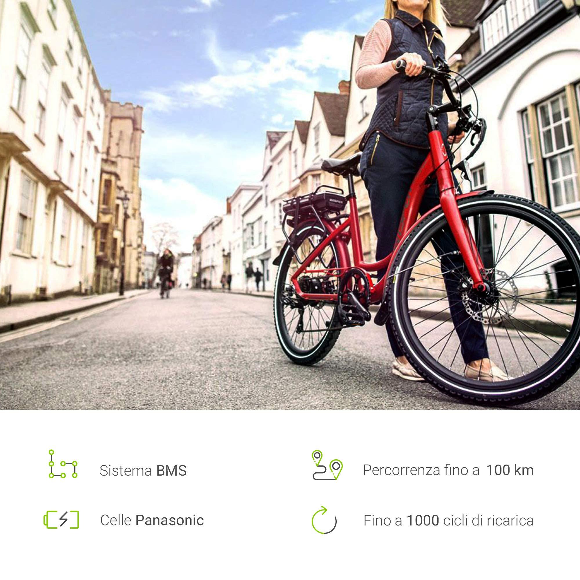 GC® Batería E-Bike 36 V 11,6 Ah Pedelec Bottle con Celdas ...