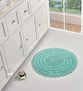 UMI by Amazon 100% algodón de tacto lujoso reversible alfombra de baño extra absorbente y suave se coloca delante de l...