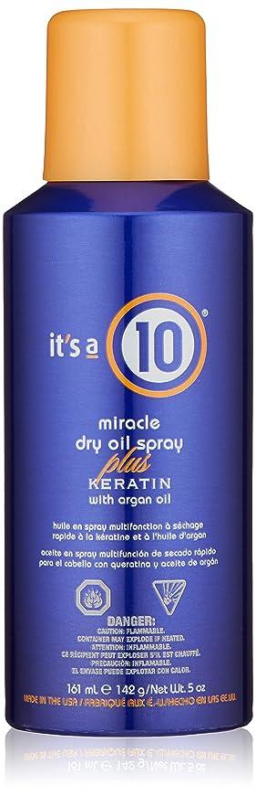 脅かすマディソン干し草It's a 10 Haircare ミラクルドライオイルはアルガンオイル、5フロリダでプラスケラチンをスプレーしてください。オズ。 5オンス