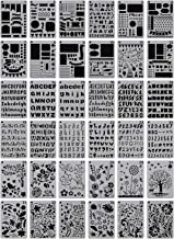Misscrafts Plastic Bullet Journal Stencil Set 4 X 7 Inches Planner Stencil for School Projects Scrapbook Calendar Notes Drawing Stencil Template