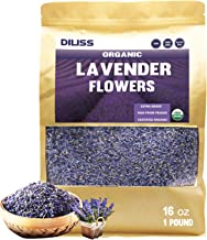 DILISS French Lavender Buds Organic Top Grade Dried Lavender Flower 100% Pure and Natrual Lavender Fresh Fragrance Large Resealable Bag (16OZ)