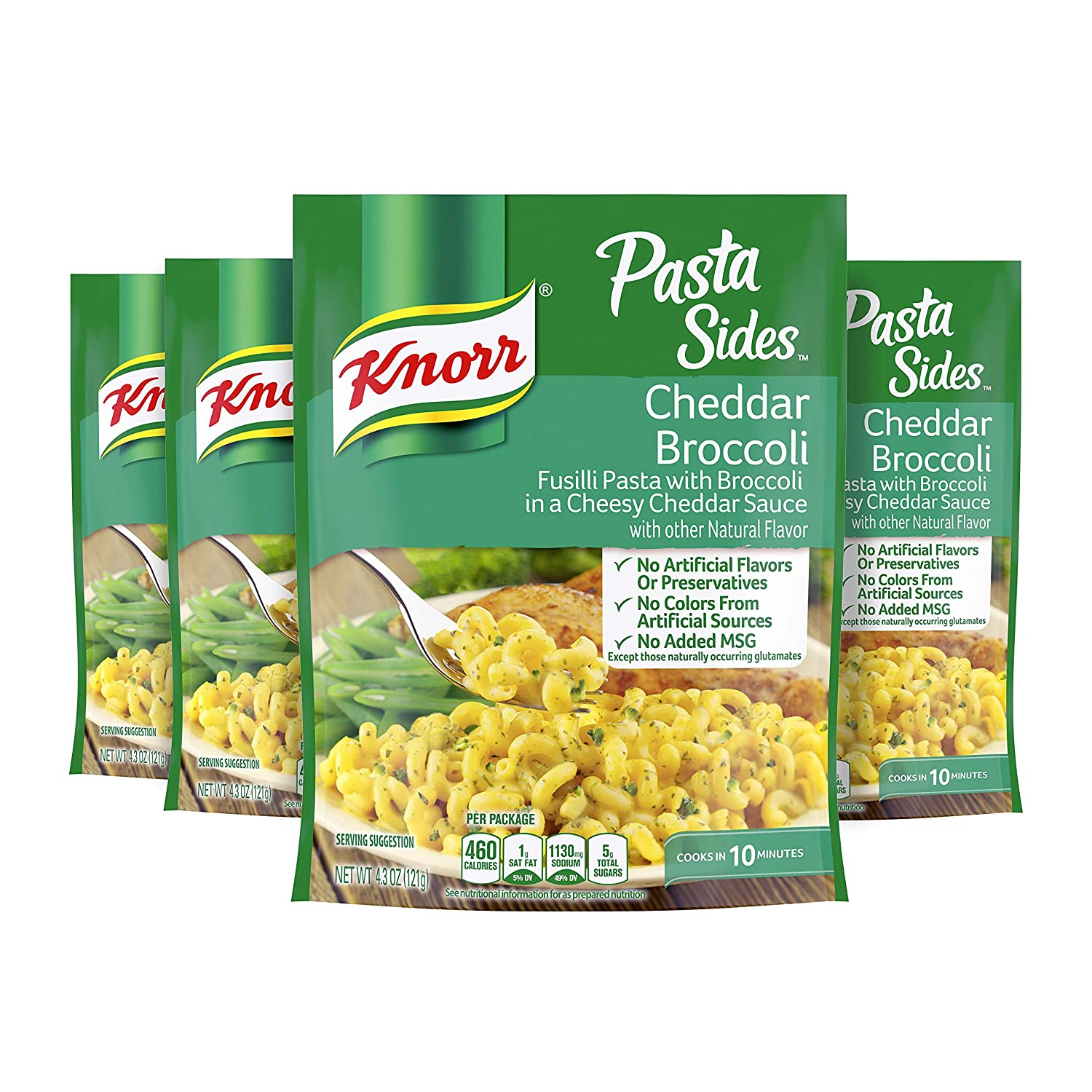 Knorr Pasta Side Dish Memphis Mall Cheddar Broccoli pack Mail order of Ounce 4 4.3