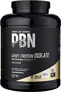 comprar comparacion Premium Body Nutrition - Aislado de proteína de suero de leche en polvo (Whey-ISOLATE), 2,27 kg, sabor vainilla (75 porcio...