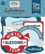 Echo Park Paper Company CW162024 Celebrate Winter Ephemera, Red/Blue/Navy/Green/White