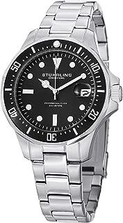 Men's 664.01 Aquadiver Quartz Date Black Dial Watch