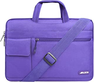 MOSISO Laptop Shoulder Bag Compatible with 13-13.3 Inch MacBook Pro, MacBook Air, Notebook Computer, Protective Polyester Flapover Messenger Briefcase Carrying Handbag Sleeve Case Cover,Ultra Violet