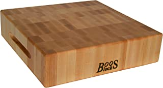 John Boos Block CCB183-S Classic Reversible Maple Wood End Grain Chopping Block, 18 Inches x 18 Inches x by 3 Inches
