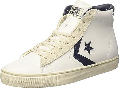 Converse PRO Lthr Vulc Mid, Sneaker a Collo Alto Unisex-Adulto