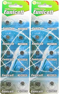 20 Eunicell AG1 / 164 / 364 / LR621 Button Cell Battery Long Shelf Life 0% Mercury (Expire Date Marked)