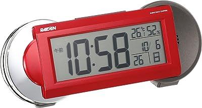 セイコー クロック 目覚まし時計 電波 デジタル 大音量 切替式 アラーム PYXIS ピクシス RAIDEN ライデン 赤 メタリック NR533R SEIKO