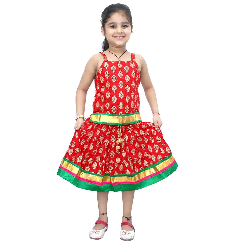 KL101 Chandrakala Kids Lehenga Choli Set Ethnic Traditional Party Wear Dress Skirt Tops for Girls