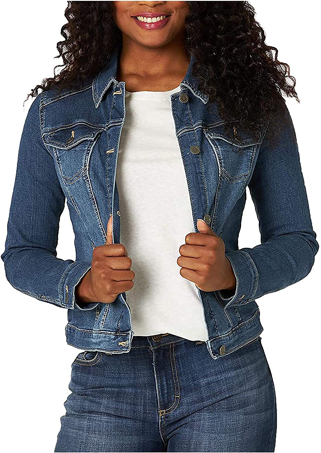 Blue Jean Jackets for Women Casual Lady Long Sleeve Jacket Max 49% OFF Coat shop