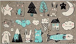 Cotton + Steel Sleep Tight Toys 23in Panel Grey Fabric